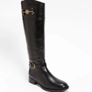 Size 9.5 M Tory Burch Black Leather Riding Boots